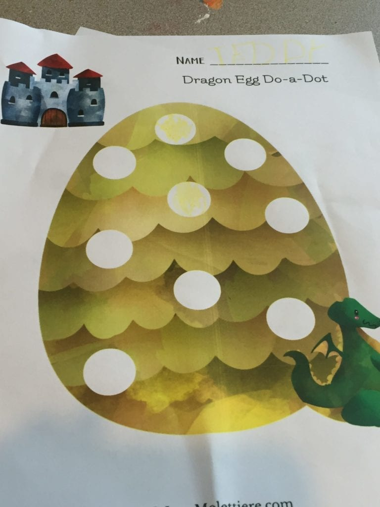 dragon egg do-a-dot