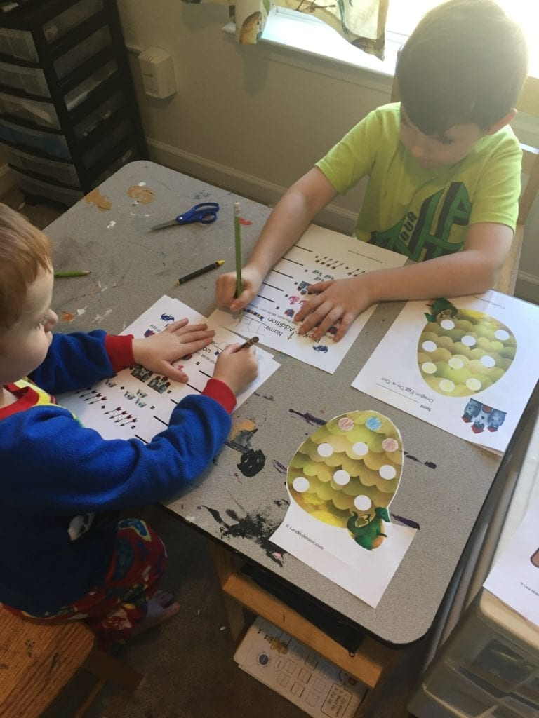 medieval preschool writing math pack