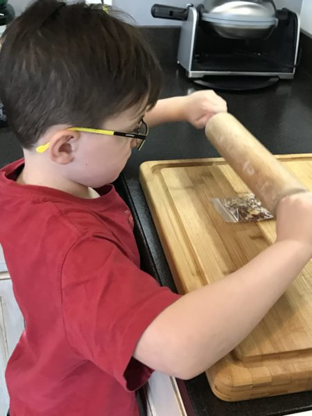 kids in the kitchen with green chef