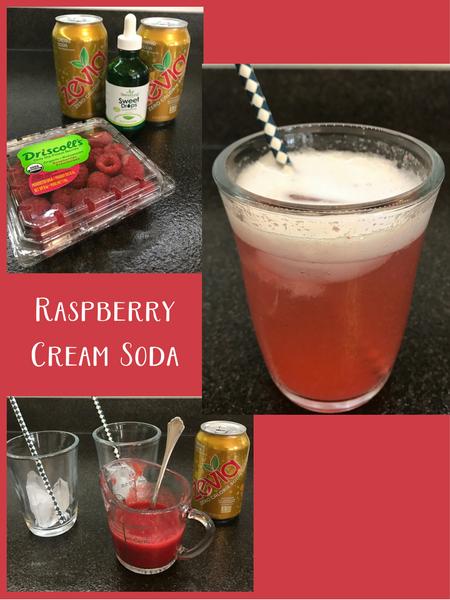 Zevia raspberry cream soda
