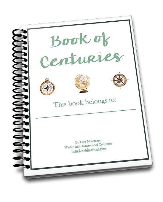 My Timeline Notebook of Centuries