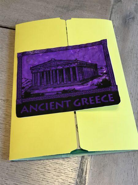 Our Ancient Greece unit study lap book