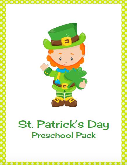 saint patrick activity pack preschool kindergarten