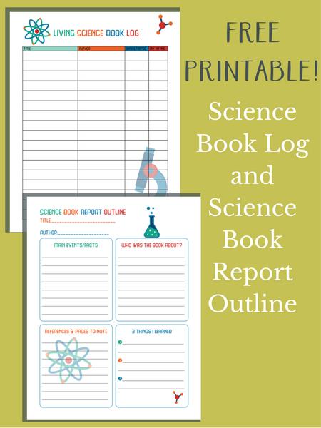 science book log printable science book report