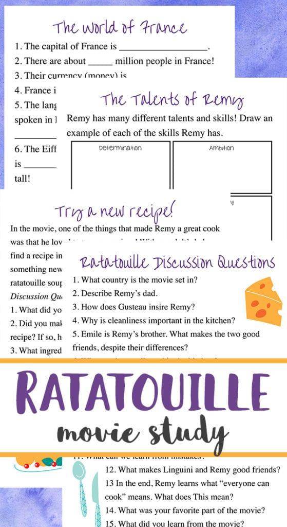 ratatouille movie study and recipe