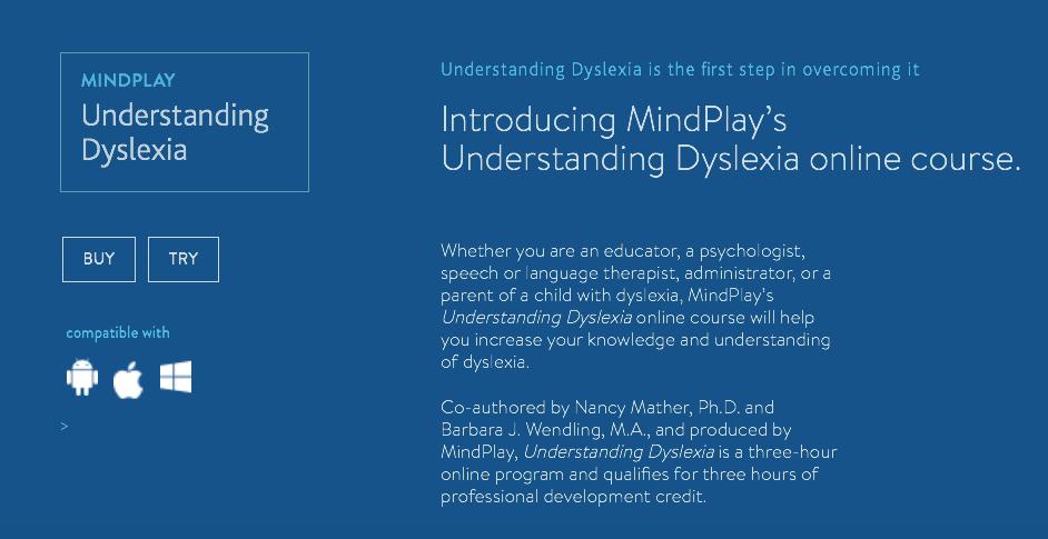 MindPlay dyslexia literacy