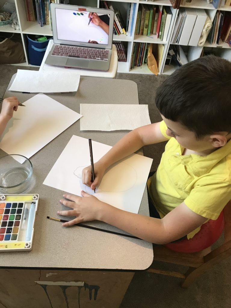 sparketh art lessons for homeschool