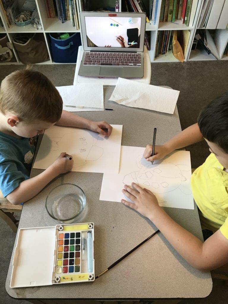 kids art class online