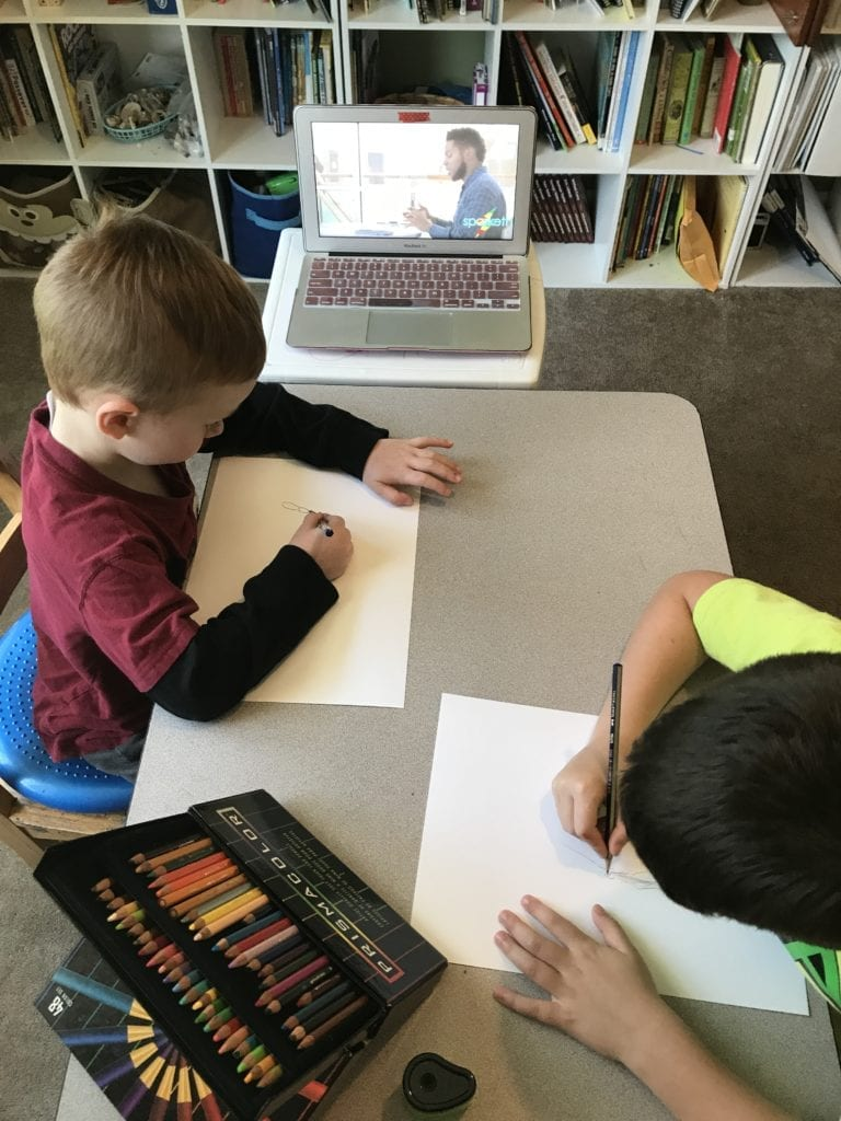 colored pencil art lessons for kids