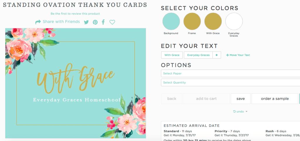 basic invite custom stationery