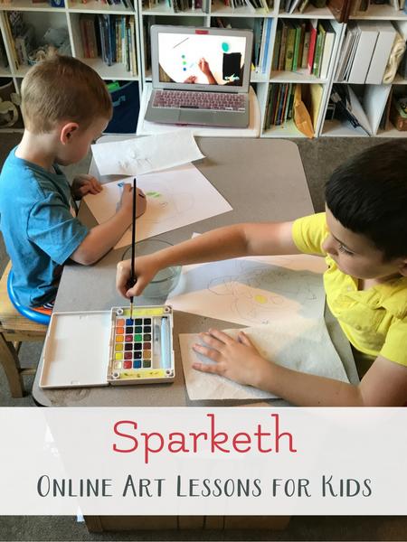 sparketh online art lessons for kids
