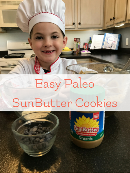 Easy Paleo SunButter Cookies on Cooking with Chef Teddy