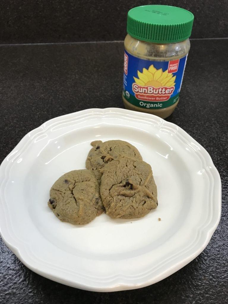 paleo sunbutter cookies
