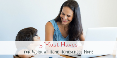 5 Must Haves to be a successful work at home homeschool mom. Don't let all your juggling lead to overwhelm. Use these tools to reclaim balance.