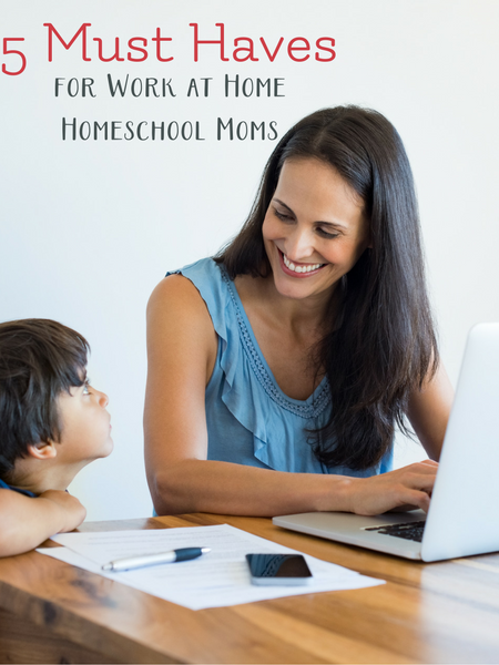 5 Must Haves to be a successful work at home homeschool mom.