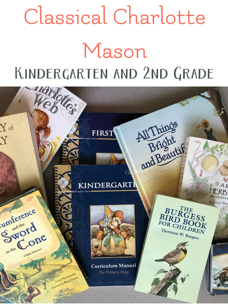 classical charlotte mason homeschool curriculum for kindergarten and 2nd grade
