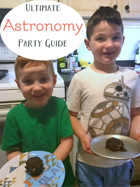 The ultimate space and astronomy party guide for homeschool.
