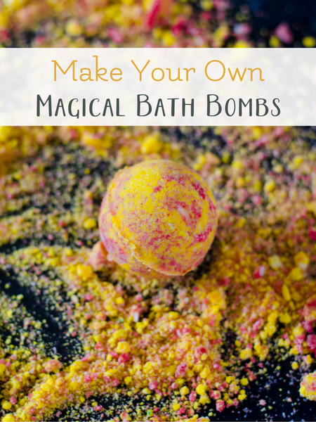 Make your own Harry Potter themed bath bombs