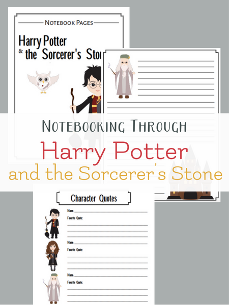 Note booking through Harry Potter with free printable note booking sheets
