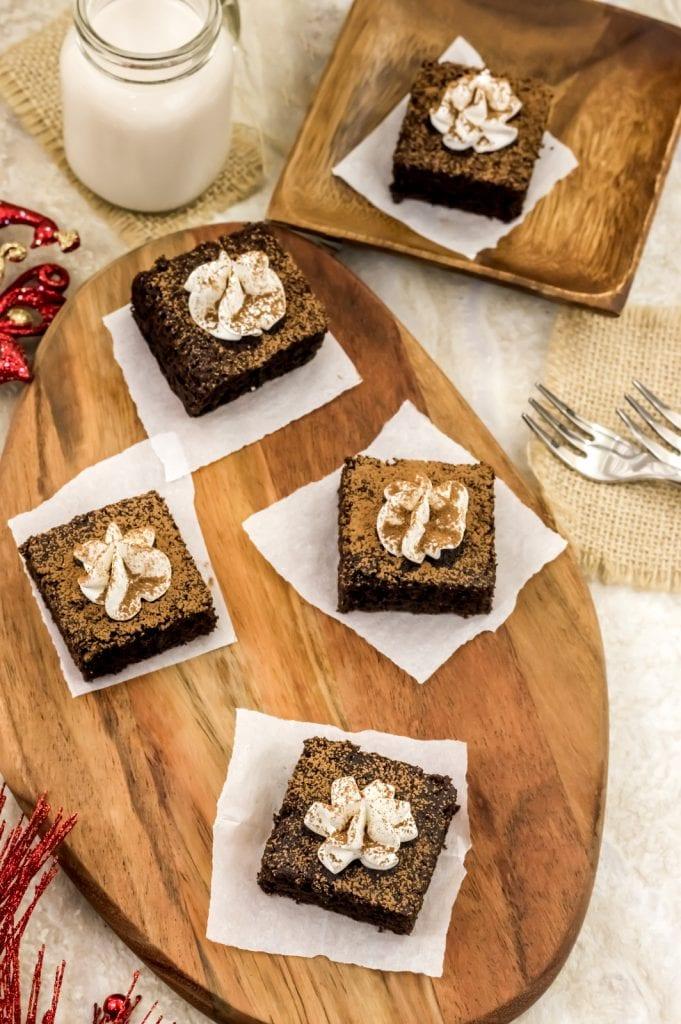paleo gingerbread brownies