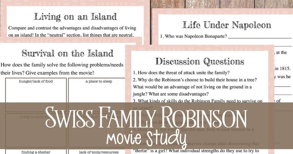 Swiss Family Robinson unit study