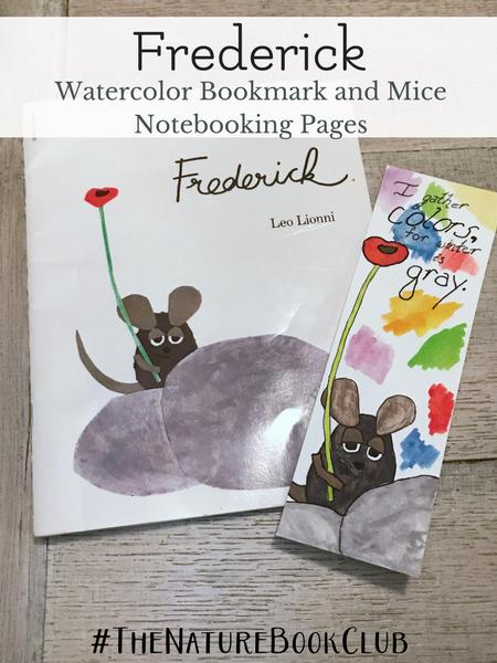 Frederick watercolor bookmark nature book club