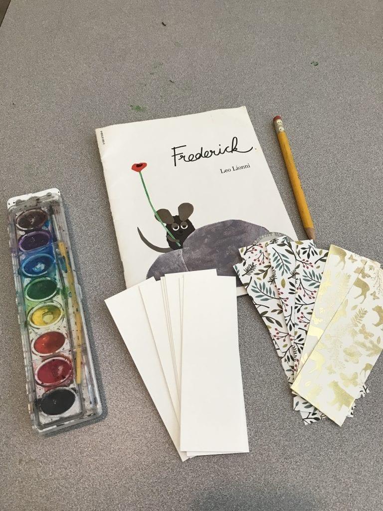 watercolor bookmark craft