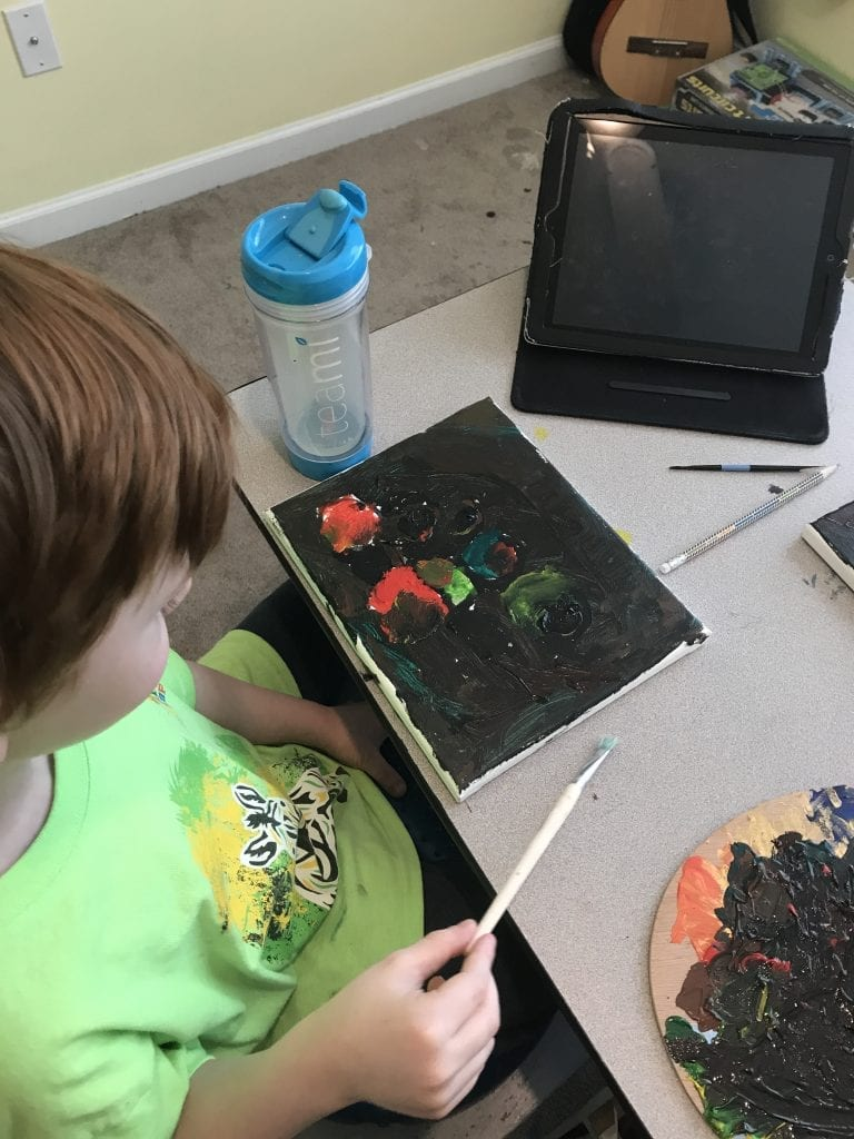 homeschool art kindergarten