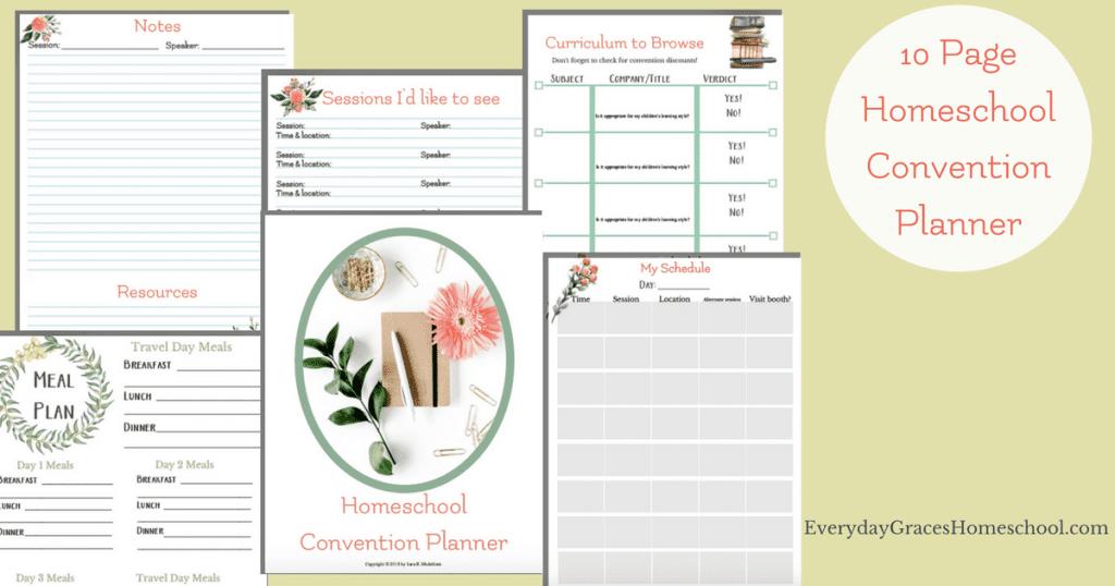 printable homeschool convention planner