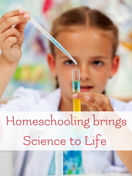 homeschool is the best because it brings science to life