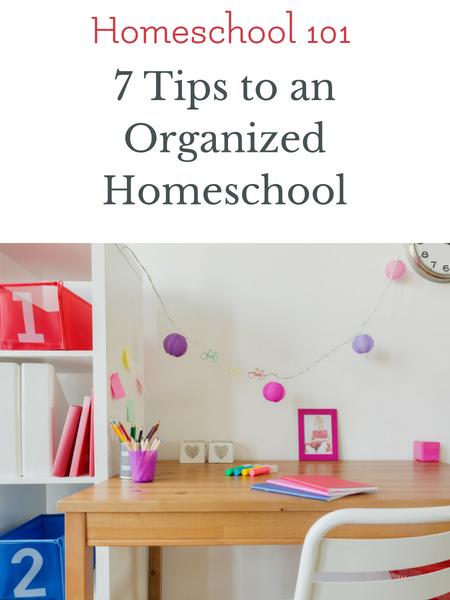 organizing homeschool room