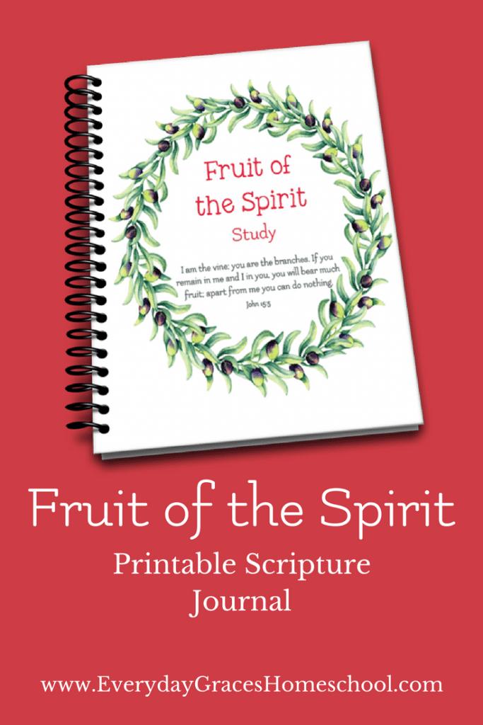 printable scripture journal fruit of the spirit