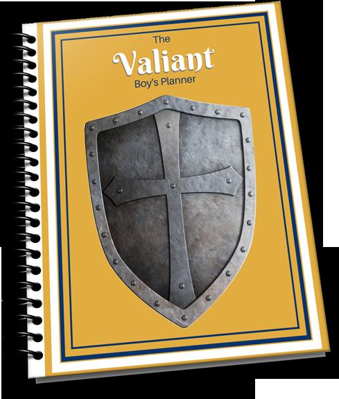 the valiant boy's homeschool planner