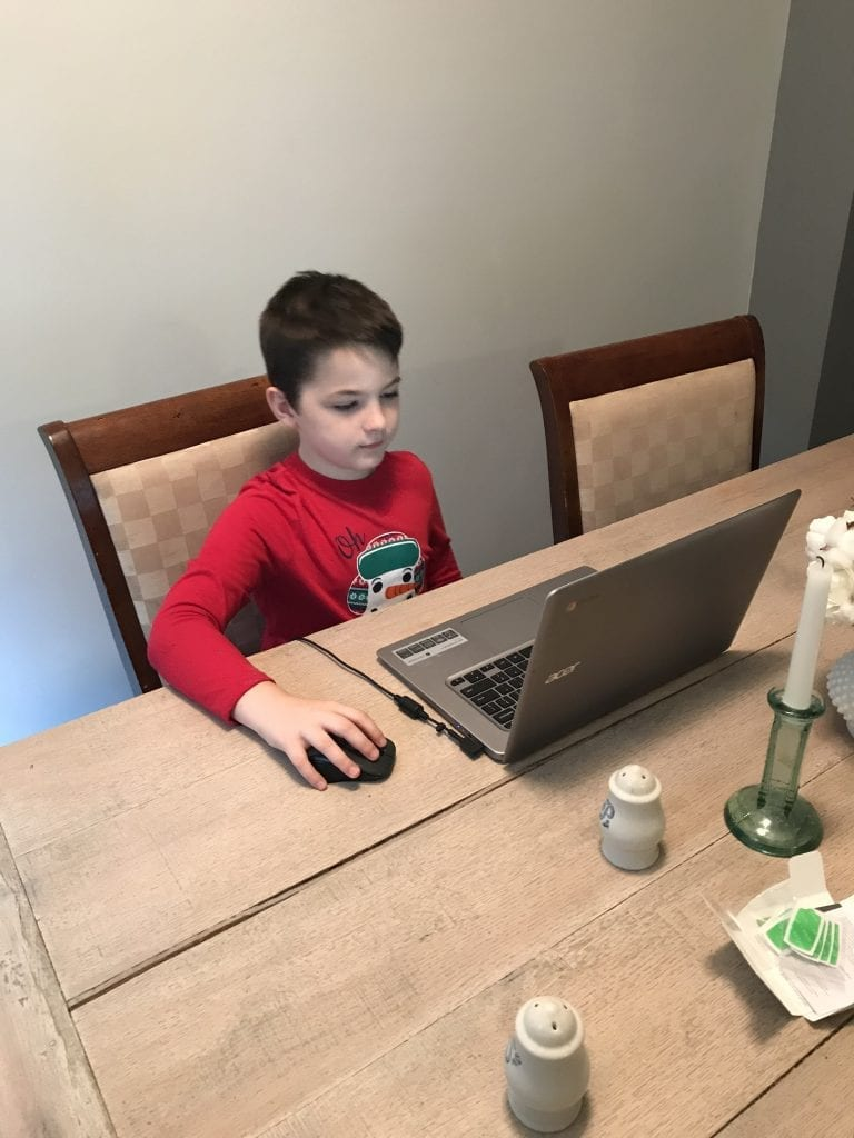 computer posture children