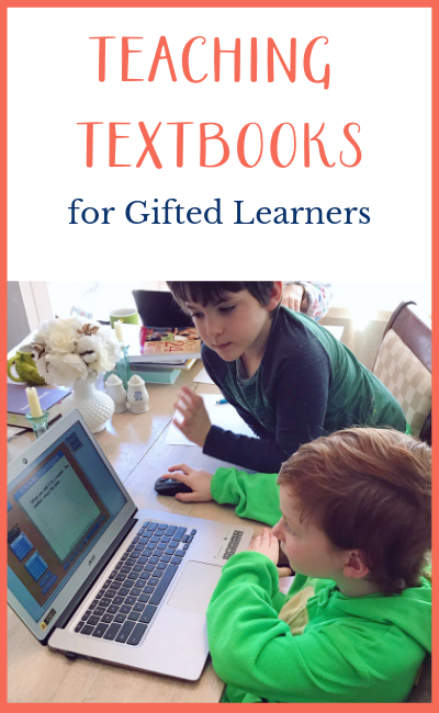 teaching textbooks for gifted kids