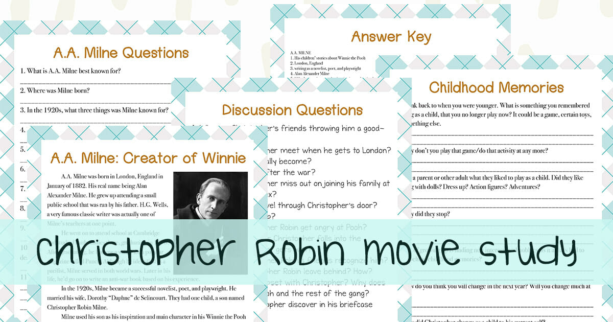 This delightful Christopher Robin movie unit study is fun for the whole family!