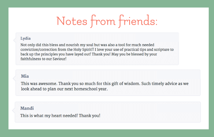 testimony from Everyday Graces community - this is what my heart needed! Thank You!