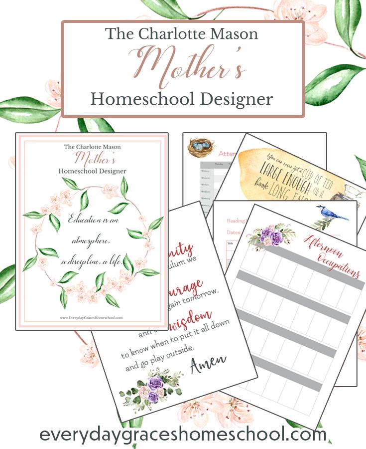 charlotte mason homeschool planner for busy moms