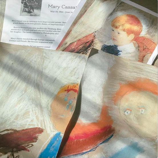 mary cassatt art lesson the homeschool garden